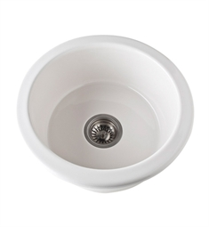 Rohl 6737-68 Allia Undermount Fireclay Kitchen Sink in Biscuit