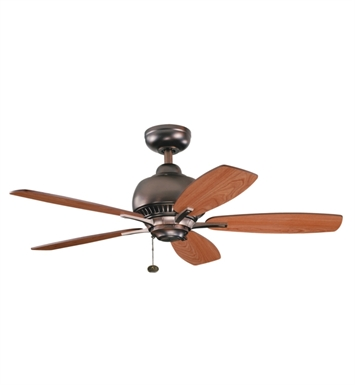 Kichler 300123OBB Indoor Ceiling Fan with 5 Blades and Downrod