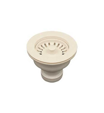 "Whitehaus RNW50L-BI 3 1/2"" Basket Strainer for Deep Fireclay Application With Finish: Biscuit"