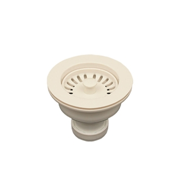 "Whitehaus RNW50-W 3 1/2"" Basket Strainer for Deep Fireclay Application With Finish: White"