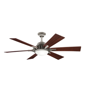"Kichler 300136AP Valkyrie 52"" Indoor Ceiling Fan with 6 Blades, Cool-Touch Remote and Downrod"