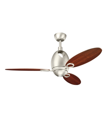 "Kichler 300155NI7 Merrick 52"" Indoor Ceiling Fan with 3 Blades, Cool-Touch Remote and Downrod"