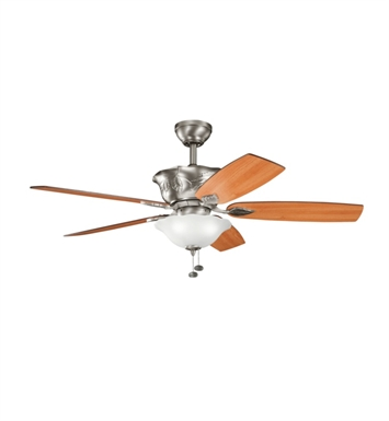 "Kichler 300159AP Tolkin 52"" Indoor Ceiling Fan with 5 Blades, Light Kit and Downrod"