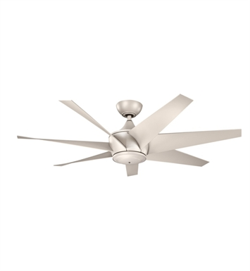 "Kichler 310112ANS Lehr II 54"" Outdoor Ceiling Fan with 6 Blades, Cool-Touch Remote and Downrod"