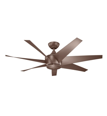 "Kichler 310112CMO Lehr II 54"" Outdoor Ceiling Fan with 6 Blades, Cool-Touch Remote and Downrod"