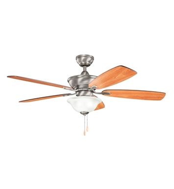 "Kichler 300177AP Frezno 52"" Indoor Ceiling Fan with 5 Blades, Cool-Touch Remote and Downrod"