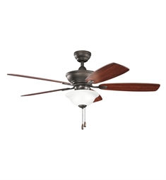 "Kichler 300177OZ Frezno 52"" Indoor Ceiling Fan with 5 Blades, Cool-Touch Remote and Downrod"