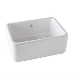Rohl RC2418WH Shaws Apron Front Fireclay Kitchen Sink in White