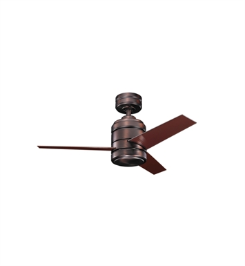 "Kichler 300146OBB Arkwright 38"" Indoor Ceiling Fan with 3 Blades, Cool-Touch Remote and Downrod"