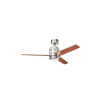 "Kichler 300146PN Arkwright 38"" Indoor Ceiling Fan with 3 Blades, Cool-Touch Remote and Downrod"