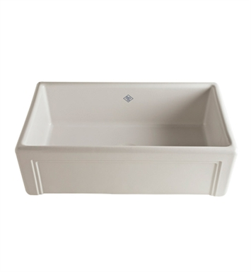 Rohl RC3017BS Shaws Apron Front Fireclay Kitchen Sink in Biscuit