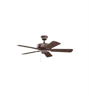 "Kichler 414SNB Basics Revisited 42"" Indoor Ceiling Fan with 5 Blades and Downrod"