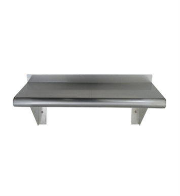 Whitehaus CUWS1024 Culinary Equipment Pre-assembled Stainless Steel Shelf with Bull Nose Edge