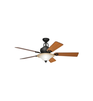"Kichler 300004DBK Meredith 54"" Indoor Ceiling Fan with 5 Blades, Cool-Touch Remote and Downrod"