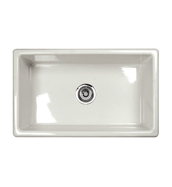 Rohl UM3018BS Shaws Undermount Fireclay Kitchen Sink in Biscuit
