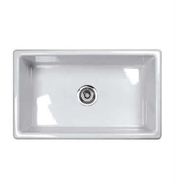Rohl UM3018WH Shaws Undermount Fireclay Kitchen Sink in White