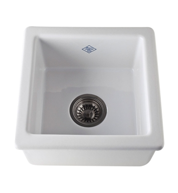Rohl RC1515WH Shaws Undermount Fireclay Kitchen or Bar/Food Prep Sink in White