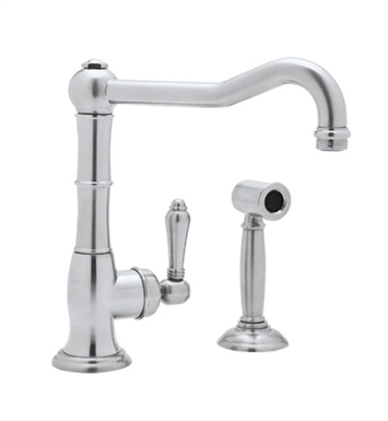 Rohl A3650WSLP-IB Country Kitchen Faucet with Sidespray With Finish: Inca Brass <strong>(SPECIAL ORDER, NON-RETURNABLE)</strong> And Handles: Porcelain Lever Handles