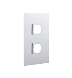 Valquest VPS010E Two Hole Rectangular (Square Flange) Wall Plate in Chrome