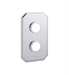 Valquest VPS012E Two Hole Traditional Wall Plate in Chrome