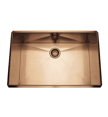 Rohl RSS3018SC Stainless Steel Kitchen Sink in Stainless Copper Finish