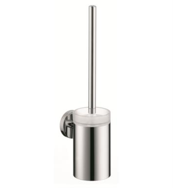 "Hansgrohe 40522820 S/E 3 1/4"" Toilet Brush with Holder With Finish: Brushed Nickel"