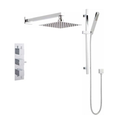 Valquest V3SA Three Handle Thermostatic Shower With Square Trim