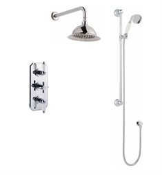 Valquest V3TB Three Handle Thermostatic Shower With Traditional Trim