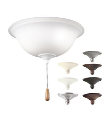 "Kichler 338509MUL 3 Light 11"" Incandescent Fan Light Kit with Opal Etched Glass in Multiple"