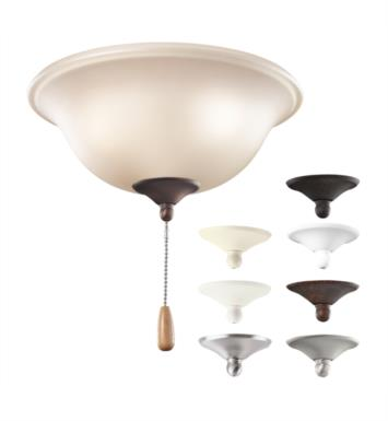 "Kichler 338508MUL 3 Light 11"" Incandescent Fan Light Kit with Umber Etched Glass in Multiple"