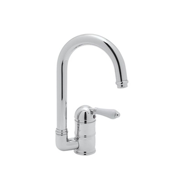 Rohl A3606-6.5LP-STN C-Spout Country Bar Faucet With Finish: Satin Nickel And Handles: Porcelain Lever Handles
