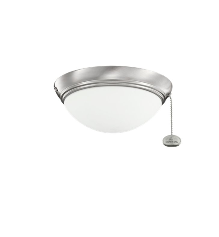 Kichler 380120bss 2 bulb flush mount indoor ceiling fixture for Kichler flush mount ceiling fans