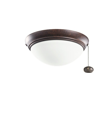 Kichler 380120TZ 2-Bulb Flush Mount Indoor Ceiling Fixture