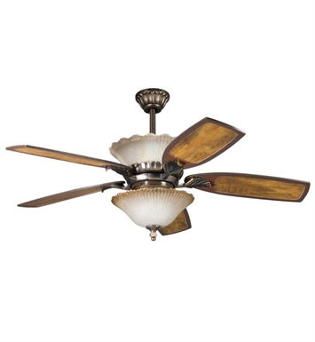 Kichler 380002OLZ 3-Bulb Bowl Kit for Indoor Ceiling Fans from the Golden Iridescence Collection