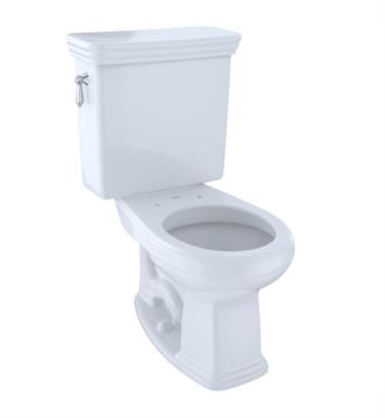 TOTO CST423SF#01 Promenade Two-Piece Round Toilet with 1.6 GPF Single Flush With Finish: Cotton And CeFiONtect: Without CeFiONtect
