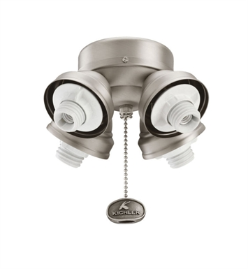 Kichler 350011AP Accessory 4 Light Turtle Fan Fitter