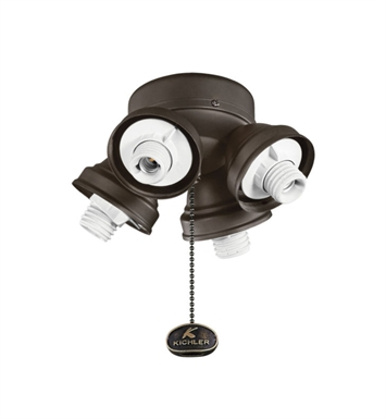 Kichler 350011SNB Accessory 4 Light Turtle Fan Fitter