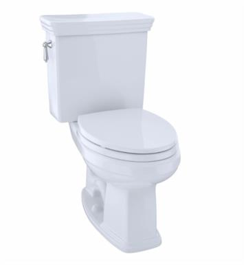 TOTO CST424EF#11 Eco Promenade Two-Piece Elongated Toilet with 1.28 GPF Single Flush With Finish: Colonial White And CeFiONtect: Without CeFiONtect