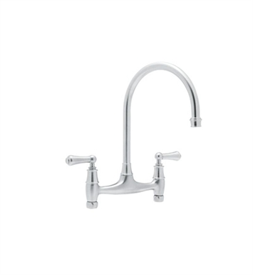 Rohl U-4791-APC Bridge Kitchen Faucet With Finish: Polished Chrome
