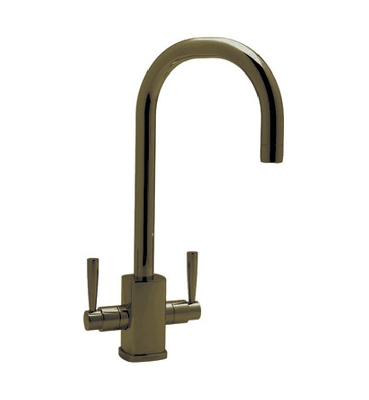Rohl U 4209 Contemporary Single Hole Bar Faucet With Square Body And C Spout