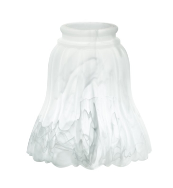 "Kichler 340128 2.25"" Fitter Universal White Alabaster Replacement Glass Shade - Sold as a package of 4"