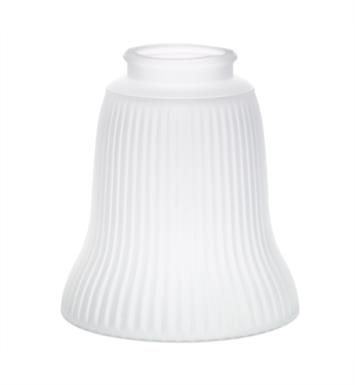"Kichler 340114 2 1/4"" Ribbed Frosted Ribbed Fan Glass Shade in Frosted"