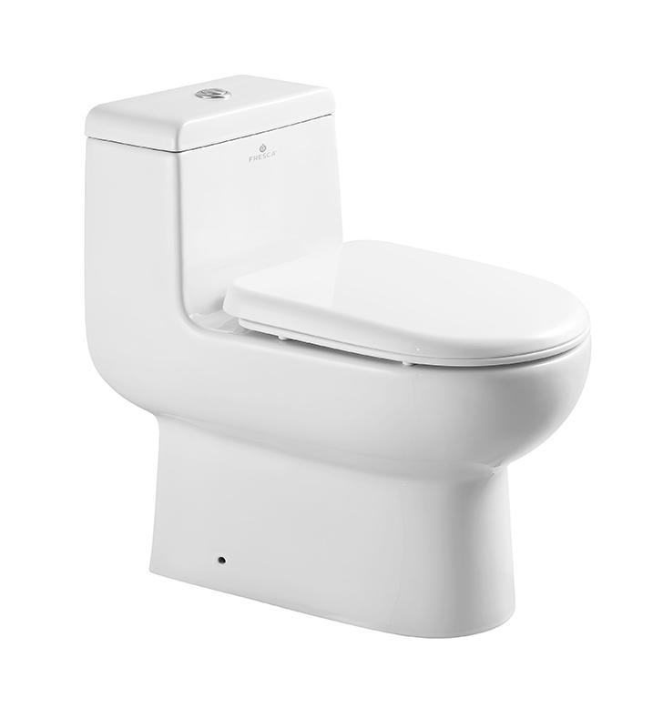 Fresca FTL2351 Antila One Piece Dual Flush Toilet With Soft Close Seat
