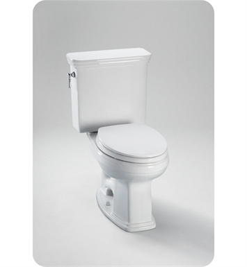 TOTO CST424SFG#01 Promenade® Toilet, Elongated Toilets 1.6 GPF  SanaGloss® With Finish: Cotton