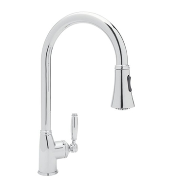Rohl MB7928-PN Pull-Down Kitchen Faucet With Finish: Polished Nickel