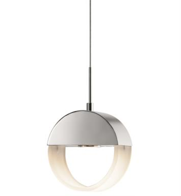 "Elan Lighting 83363 Anello 1 Light 5 3/4"" LED Mini Pendant in Chrome Finish"