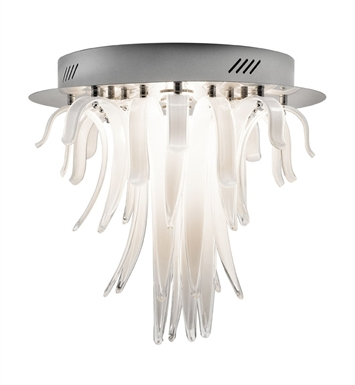 Elan Lighting 83014 Aurana™ Ceiling Flushmount Light in Chrome Finish