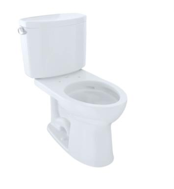 TOTO CST454CEFG#03 Drake II Two-Piece Elongated Toilet with 1.28 GPF Single Flush With Finish: Bone And CeFiONtect: With CeFiONtect Ceramic Glaze