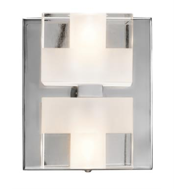 "Elan Lighting 83186 Considine 2 Light 4 3/4"" Halogen Wall Sconce in Chrome Finish"