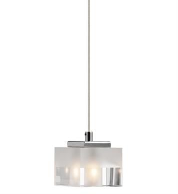 "Elan Lighting 83187 Considine 1 Light 3 1/4"" Halogen Mini Pendant in Chrome Finish"